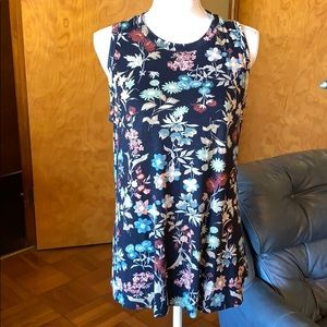 Maurices 24/7 floral tank top-size l